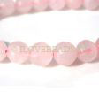 ROSE QUARTZ BEADS - MICRO FACETED ROUND BEADS 8MM